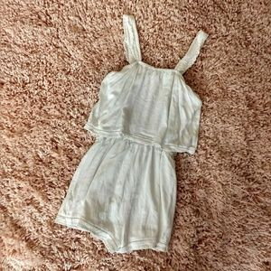 Alga Francesca Collection White Romper X-Small